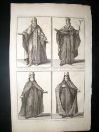 Picart C1730 Folio Antique Print. Moscow Priest Costume, Russia